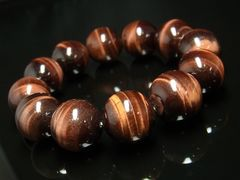 邪気から守る レッドタイガーアイブレスレット 18ミリ数珠 開運天然石