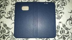 ドコモ(Galaxy S6 Edge★SC-04G)新品スマホカバー♪紺色♪濃い青