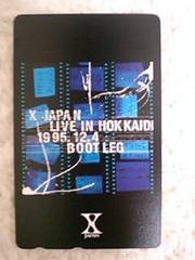 X JAPAN テレカ hide YOSHIKI LIVE IN HOKKAIDO