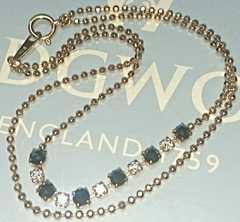 k18PGブラックダイヤ&無色透明ダイヤの1ctブレス♪