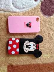 iPhone4.4sミニーちゃんプラカバー