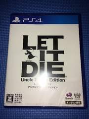 新品未開封 PS4 LET IT DIE レットイットダイ アンクルプライム エディション