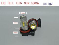 LEDフォグランプ H8.H11.H16 兼用  HB4 80w .6500k 2個セット