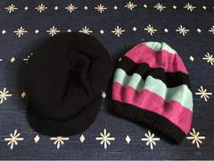 美品 H&M レディース キャスケット ニット帽 帽子 2点