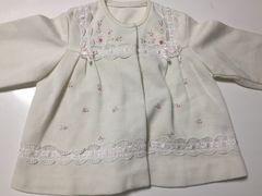 子供服女の子カーディガン☆上品な刺繍とレース☆結婚式や発表会