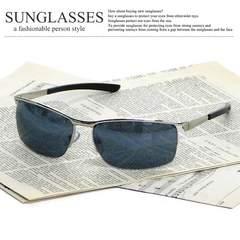 新品 サングラス メンズ オラオラ系 リームレス UVカット チョイ悪 ブロー 伊達眼鏡 SM90