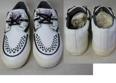 ジョージコックス中国製スニーカー展示品 難有2011白25�p