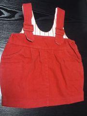 中古 赤ジャンバースカート(100�p)
