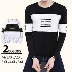 カジュアル長袖Tシャツ 秋トップス Tシャツ 大きいサイズ 18xa77