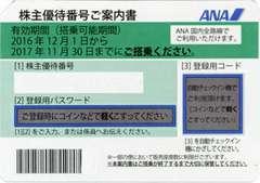 ANA株主優待券(11月30日搭乗分迄) 6枚セット 送料無料