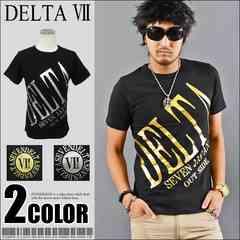 メール便送料無料【DELTA】Tシャツ70644新品黒金M