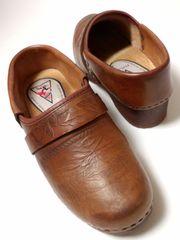 美品ボサボウッドサンダルリンネルナチュリラフォークロアボヘミアン木靴北欧大人カジュアル