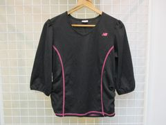 new balance(ニューバランス)レディース七分袖スポーツシャツ
