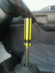ドライバーシフトノブオリジナルM12×P1.25黄×黒自作