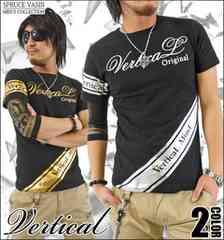 メール便送料無料【VERTICAL】Tシャツ70621新品黒金M
