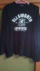 黒 ブラック カレッジプリント Tシャツ L