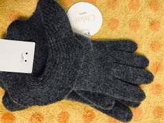 クロエ ニット手袋 グレーゴージャス大きめフリル