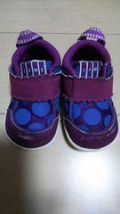 イフミー。IFME。12,5センチ。パープル。ドット。ベビー靴