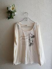 ミニーマウス☆ロンTアイボリー