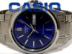 良品【980円〜】CASIO/カシオ シンプル 大型メンズ腕時計★