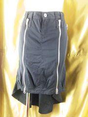 BARAK【バラク】ジップ&後ろが長いテールライン薄手スカート3