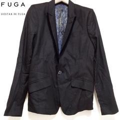 送込!新品GOSTAR DE FUGA アウトレットベロア襟ジャケット黒