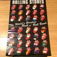 ポスター 中古 ROLLING STONES ローリングストーン 世界の国旗