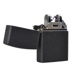 電子ライター USB充電 (ブラック/ マット)