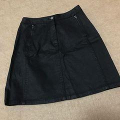 新品◆プラステplst◆格好いい!台形 ミニスカート ◆ ブラック