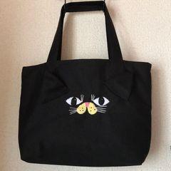 黒猫chanバッグ★handmade