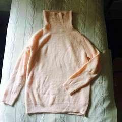 エフデ 新品 1.6万円 ピンクニット タートル ハイネック 長袖