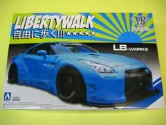 アオシマ 1/24 リバティーウォーク No.09 LBワークス R35 GT-R Ver.1 新品