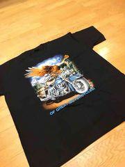 LA直輸入  デザインプリント  Tシャツ  黒ブラック  size3XL→XXXL