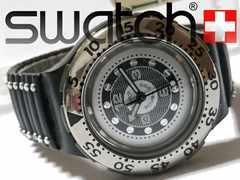 超希少【箱付】1スタ★スウォッチ/Swatch 200mダイバー 腕時計