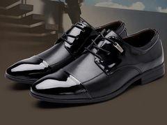 春夏 メンズビジネスシューズ 紳士靴 PU革靴 24cm~28.5cm/AK261