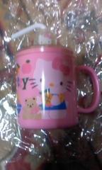 未使用【SANRIO】ハローキティー・ストロー付きマグカップ