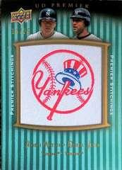 UD.PREMIER08 ニューヨークヤンキース・ロゴパッチカード/25 松井秀喜&デレク.ジーター
