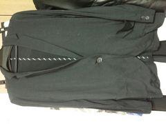 黒ジャケット!日本製!薄手!高級!シックで軽いライン細身M