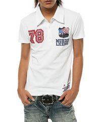 マーダーライセンス 78ワッペンポロシャツ/白M ヴァンキッシュ