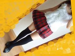 506新品★赤 チェック柄 プリーツ ミニスカート TRALALA