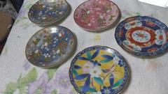 レトロな豆皿皿9、5×9、5 2枚10×10 3枚