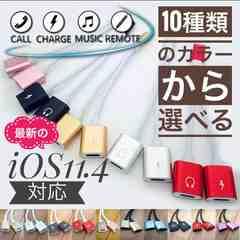 iPhone 2in1 充電 &イヤホン オーディオ マイク iOS11.4対応