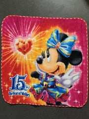 新品 バラ売り ディズニーシー 15周年 ミニタオル ミニーマウス