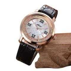残1個 490円★高級感漂うおしゃれデザイン時計 黒