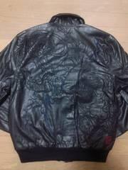 セール 新品 絡繰魂 風神雷神 刺繍A-2フェイクレザー ジャケット スカジャン好きも