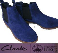 クラークス 新品サイドゴア ショートブーツ26112860uk4