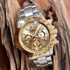 最安値!大特価!ロレックスデイトナタイプ 自動巻きクロノグラフ腕時計・ゴールド