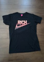 JOYRICHジョイリッチ/黒NIKEパロディプリントTシャツ/Sサイズ