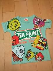 美品スマイルフレンズTシャツ130緑JAM