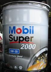 ☆ Mobil Super2000. 5W-30.API-SN/CF.GF-5の部分合成油。20L!